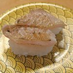大漁丸 - 日本海の海産物と言えばで連想されることの多い「のどぐろ」333円は、身のハリと甘味と脂の美味しさが酢飯とマッチ!