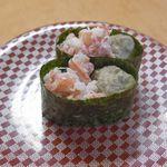 大漁丸 - 最後に食べた「かに&かに味噌」171円は、かにの身のスッキリとした美味しさ、濃厚な味噌のコクのあるウマさが渾然一体となってまさに絶品!臭みもなくシメにぴったりな一品でした!