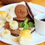 Vege - サクサクパイのチョコバナナパンケーキ