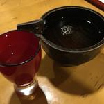 会津郷土食 鶴我 - まずは日本酒で乾杯~♪