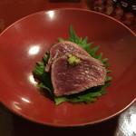 会津郷土食 鶴我 - ヒレ肉のたたき