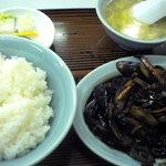 Chuukasobatamiya - ナスミソ炒め定食です