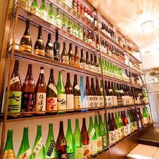 【日本酒】常時30~40種をご用意!季節限定酒も入荷します♪