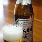 いちばん - ドリンク写真:こんな魚料理にビールは不可欠でしょう♪(2017.4.24)