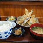 いちばん - 穴子天ぷら定食、これで税込み900円は立派です!(2017.4.24)