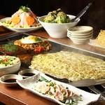 神宮茶屋 - 料理写真:三河豚焼きしゃぶ&もんじゃ焼コース