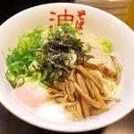 東京麺珍亭本舗 - 油そば(大盛600円)+半熟玉子(100円)+青ネギ(100円)