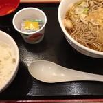 65977884 - Aセットの生蕎麦セット(天ぷらそばと納豆ご飯)