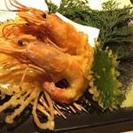 夜景個室dining 天の戸 - 海老と野菜の天麩羅