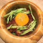 恵比寿焼肉寿司 別邸 - 馬肉のユッケ
