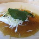中国食彩館 龍の髭 - 白身魚(サゴシ鰆の子)の蒸し物