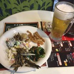 呑み処 千 - 生ビールと食べ放題お惣菜 田作りが美味かった