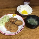 相模屋 - 【メンチカツ定食】(550円税込)
