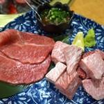 sumibiyakinikuushiwaka - ミスジ+本日のサイコロステーキ