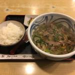 天一更科 - 肉そば定食 980円