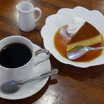 茶房 絵李花 - プリン、コーヒー