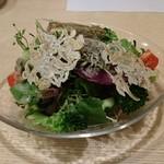 65986060 - 梶谷野菜とちりめんサラダ(780円)