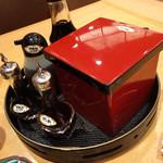 金沢まいもん寿司 - ポン酢も有ります