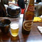 立呑み処 虎屋 - 瓶ビール・焼酎お湯割り