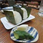 赤富士 - おにぎり(鮭と昆布)