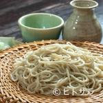 いちぶん - 蕎麦は十日町産。出汁には削りたての枕崎産の「鰹節」を使用