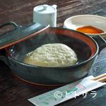 いちぶん - 土鍋で出てくる『そばがき』は、最後の一口まで温かく