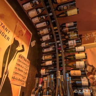 ワインに本気のお店です!お酒はワインとビールのみ