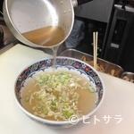 麺厨房あじさい - 道南産の昆布をベースにじっくりと煮込んだ極上のスープが自慢