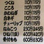 660668 - 焼鳥メニュー 08/08