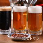 唯我独尊 - 別店舗で製造している富良野産の地ビールも、ゆっくり味わえます
