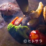 ステーキ&ハンバーグ ひげ - 荒挽きハンバーグ 200g