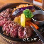 ステーキ&ハンバーグ ひげ - 2種のソースから選べる『ハンキングテンダー』