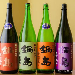 佐賀の地酒を中心に、常時14〜15種類がオンメニュー