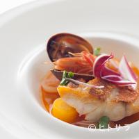 レストラン プランデルブ北鎌倉 - 魚貝の旨みを感じる『金時鯛のポワレ ブイヤベース仕立て』