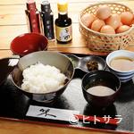 玉の助 - 醤油も数種類。お好みの卵かけご飯を