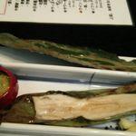 無門庵 - 料理写真:穴子の笹焼き:2017年4月