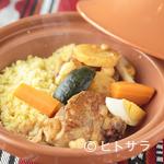 アラビア料理 アルアイン - お米の形に似た、小さなパスタ『クスクスチキンタジン』