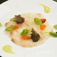 ビストロ シャンパーニュ トレゾール - 鮮魚のカルパッチョ