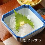 海幸山幸 越中茶屋 - 『特選白海老づくし』の中の一品『白エビの造り』