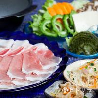 お食事処 ちゃんや~ - やんばるの恵みを堪能できる『やんばる島豚あぐーしゃぶしゃぶセット』