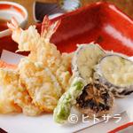 和今洋菜 あん - 旬の素材をサクッと揚げた『天ぷらの盛り合わせ』