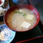 和風れすとらんにしき - お味噌汁は出汁が効いて美味しかった!