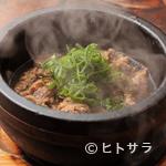あか豆 - 有馬山椒やネギの風味が香る『牛筋のやわらか煮』