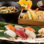 山水草木 - 酒の肴にもピッタリな『握り寿司膳』