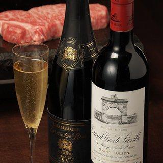 ◇ソムリエ厳選の豊富なワイン◇
