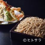 軽井沢 川上庵 - 特大の有頭海老の天ぷらが2尾ついた『天せいろ上』