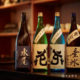 おすすめの温度帯ごとにラインナップした日本酒