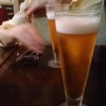 66033616 - 生ビール~一口飲んだ後