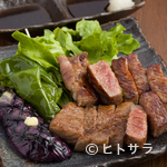 濱 放 者 - 霜降りなのにあっさりとした味わいの『和牛ロースステーキ200g』