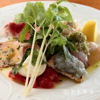 アンティカ オステリア バーチョ - 日替わりの5品がひと皿に盛られる『前菜の盛り合わせ』